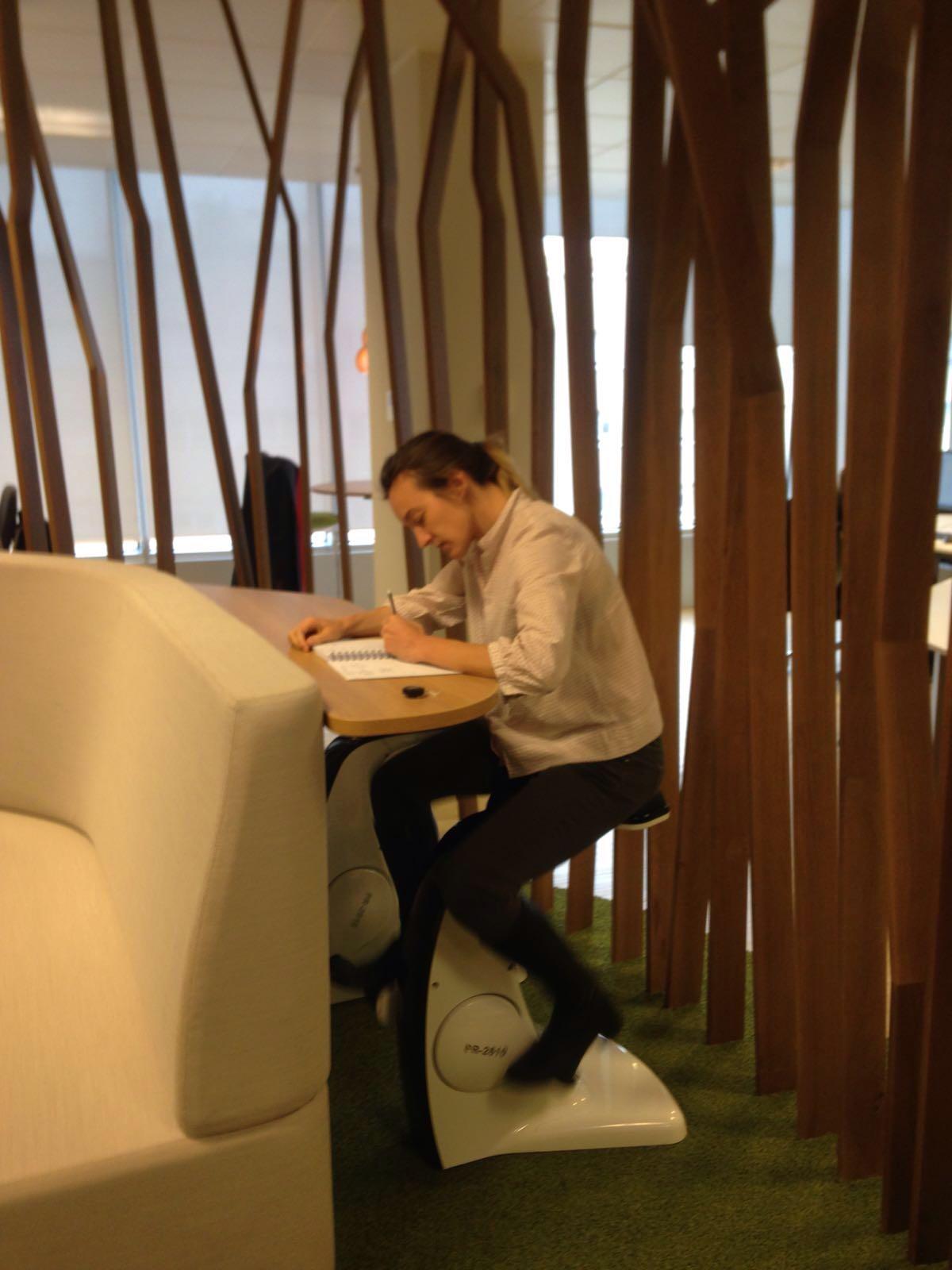 Foto tomada en las nuevas oficinas de CBRE Madrid