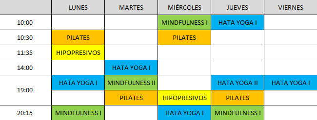 yoga y pilates On-line